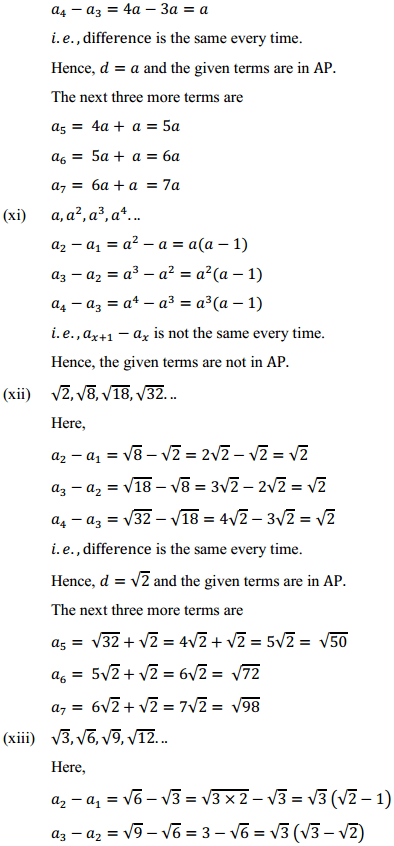 NCERT Solutions for Class 10 Maths Chapter 5 Arithmetic Progressions Ex 5.1 9
