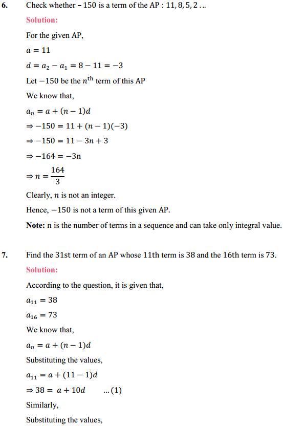 NCERT Solutions for Class 10 Maths Chapter 5 Arithmetic Progressions Ex 5.2 10