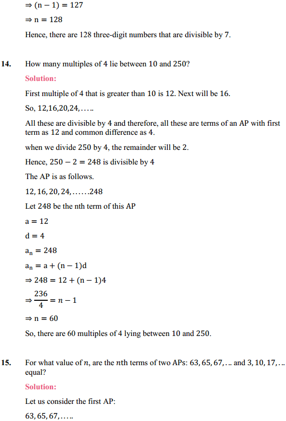 NCERT Solutions for Class 10 Maths Chapter 5 Arithmetic Progressions Ex 5.2 16