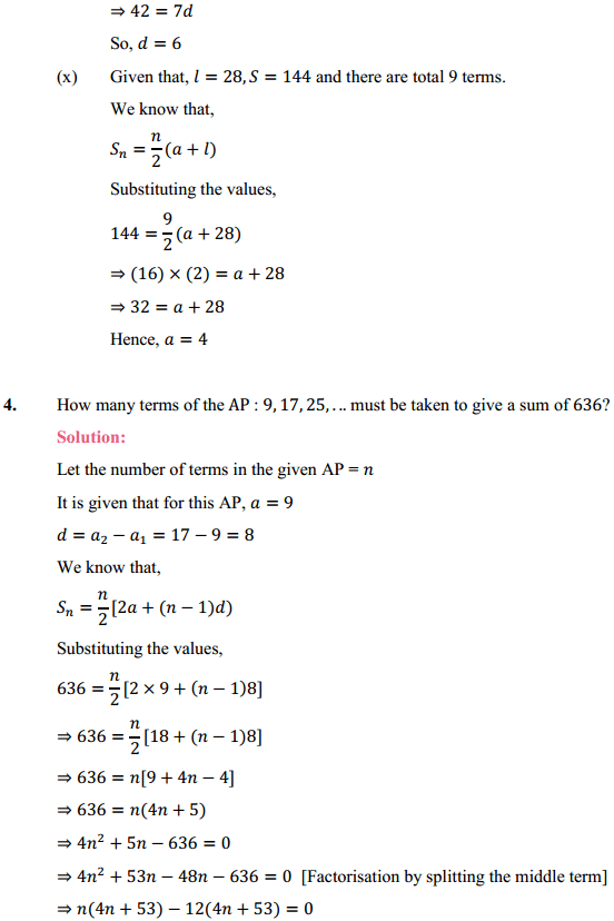 NCERT Solutions for Class 10 Maths Chapter 5 Arithmetic Progressions Ex 5.3 12