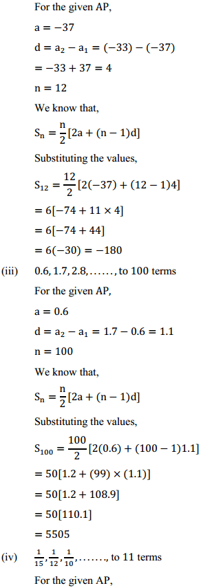 NCERT Solutions for Class 10 Maths Chapter 5 Arithmetic Progressions Ex 5.3 2