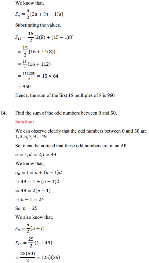 NCERT Solutions for Class 10 Maths Chapter 5 Arithmetic Progressions Ex 5.3 20