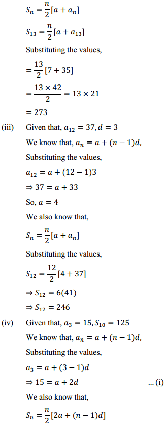 NCERT Solutions for Class 10 Maths Chapter 5 Arithmetic Progressions Ex 5.3 7