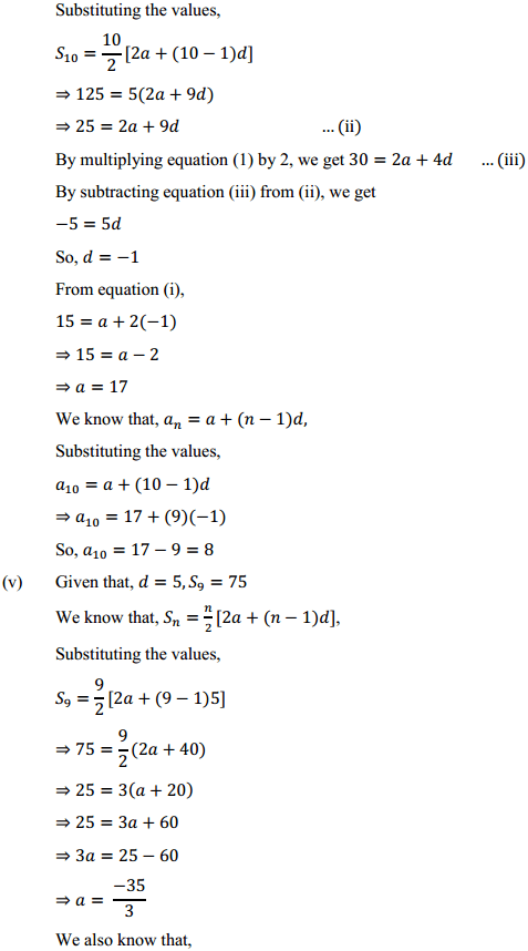 NCERT Solutions for Class 10 Maths Chapter 5 Arithmetic Progressions Ex 5.3 8