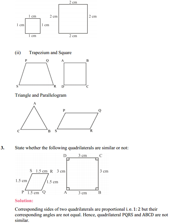 NCERT Solutions for Class 10 Maths Chapter 6 Triangles Ex 6.1 2