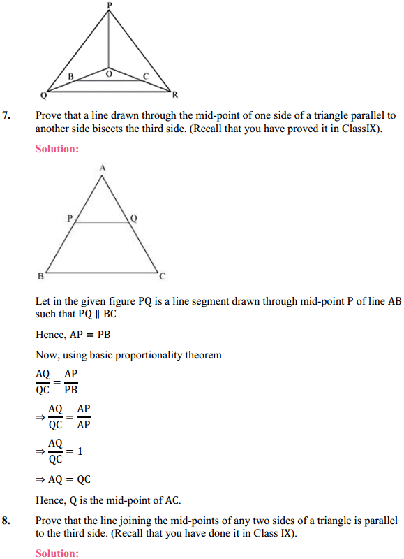 NCERT Solutions for Class 10 Maths Chapter 6 Triangles Ex 6.2 10