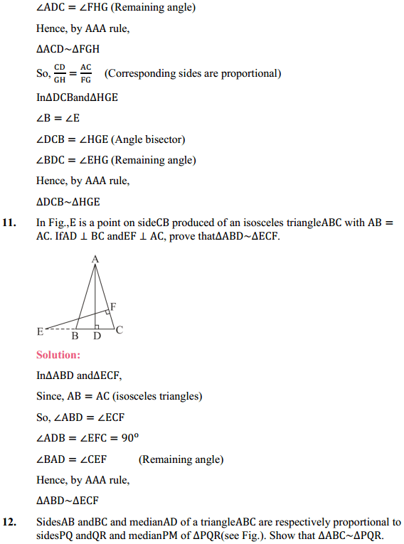 NCERT Solutions for Class 10 Maths Chapter 6 Triangles Ex 6.3 11