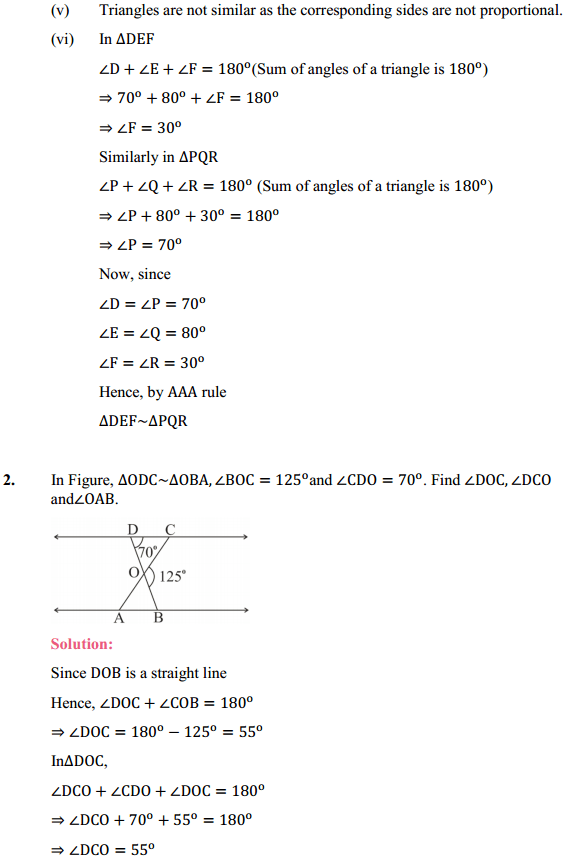 NCERT Solutions for Class 10 Maths Chapter 6 Triangles Ex 6.3 3