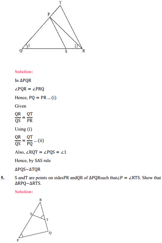 NCERT Solutions for Class 10 Maths Chapter 6 Triangles Ex 6.3 5