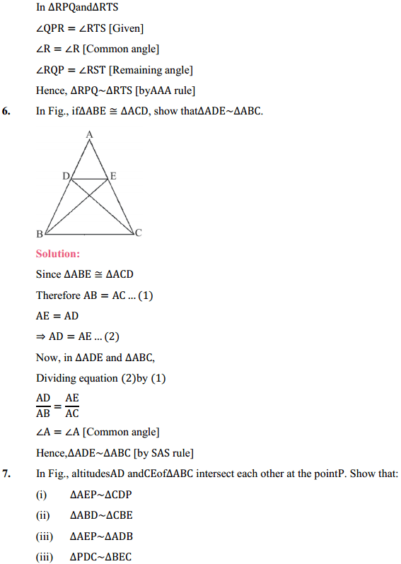NCERT Solutions for Class 10 Maths Chapter 6 Triangles Ex 6.3 6