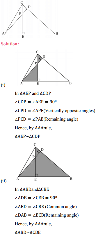 NCERT Solutions for Class 10 Maths Chapter 6 Triangles Ex 6.3 7