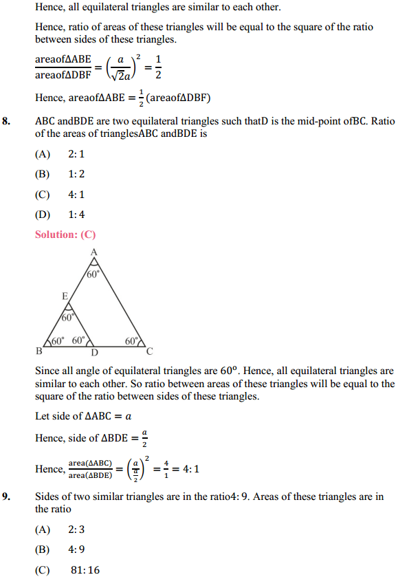 NCERT Solutions for Class 10 Maths Chapter 6 Triangles Ex 6.4 6