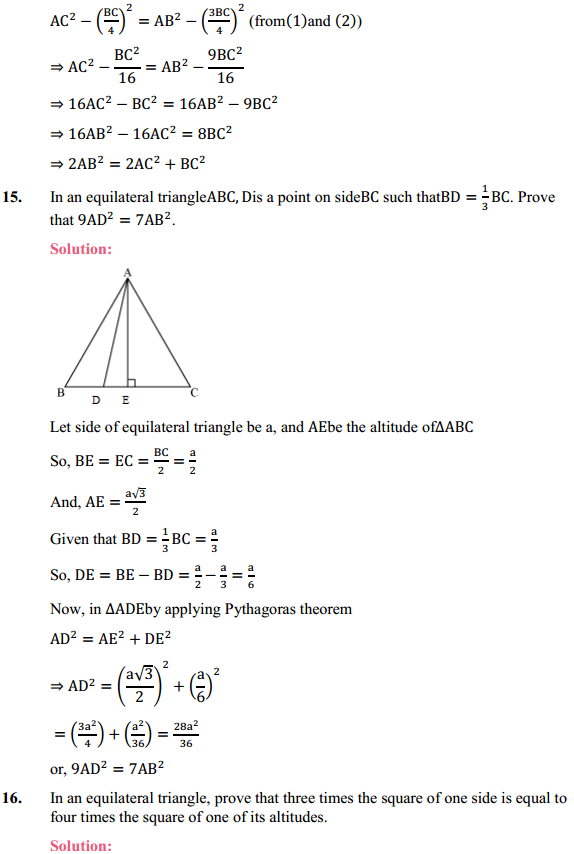 NCERT Solutions for Class 10 Maths Chapter 6 Triangles Ex 6.5 11