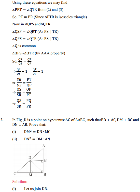 NCERT Solutions for Class 10 Maths Chapter 6 Triangles Ex 6.6 2