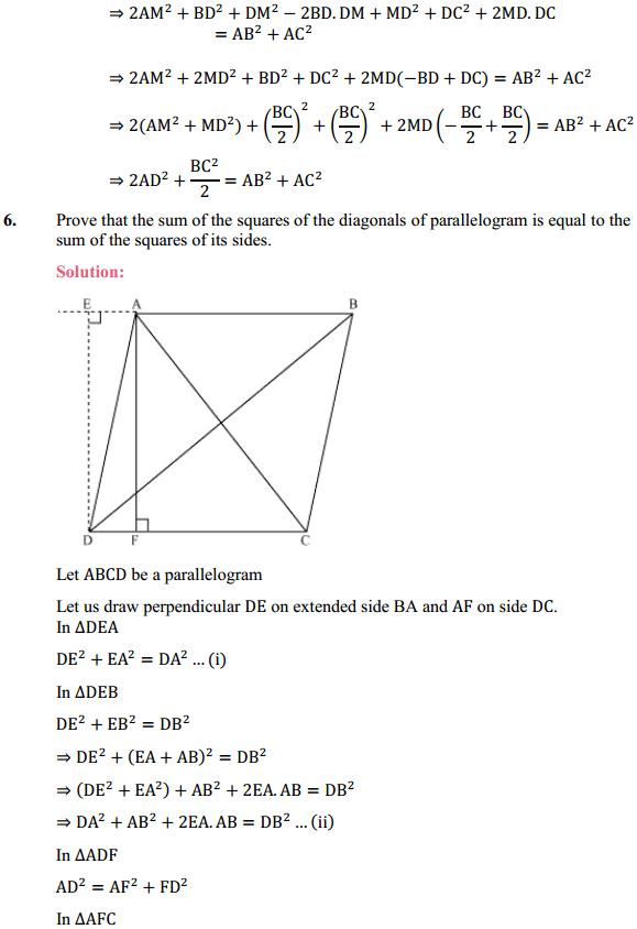 NCERT Solutions for Class 10 Maths Chapter 6 Triangles Ex 6.6 7