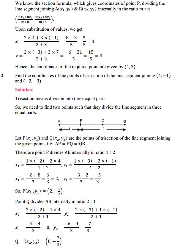 NCERT Solutions for Class 10 Maths Chapter 7 Coordinate Geometry Ex 7.2 2