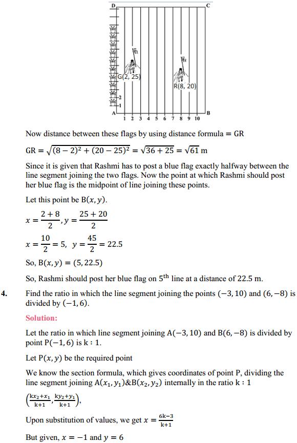 NCERT Solutions for Class 10 Maths Chapter 7 Coordinate Geometry Ex 7.2 4