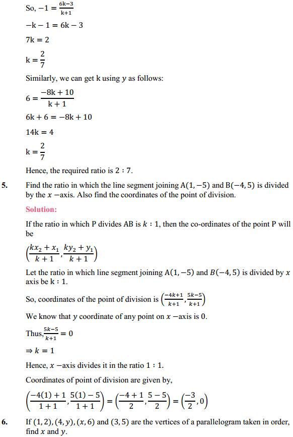 NCERT Solutions for Class 10 Maths Chapter 7 Coordinate Geometry Ex 7.2 5