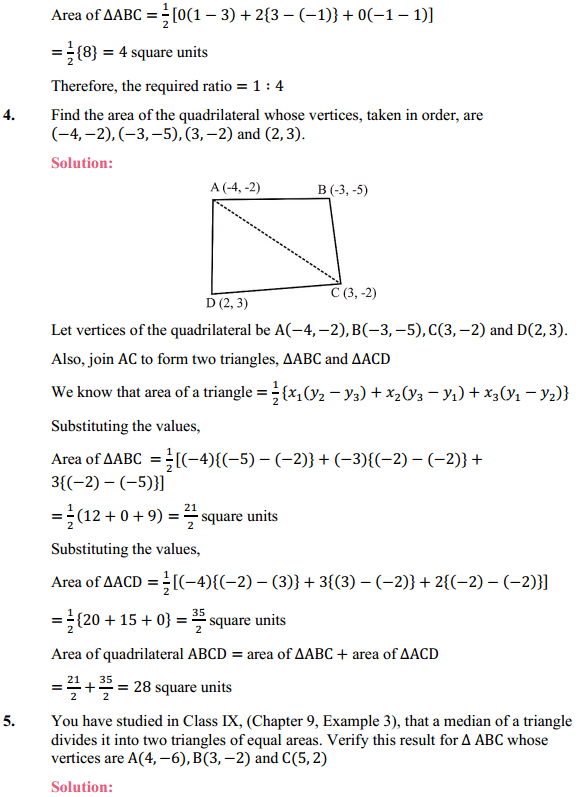 NCERT Solutions for Class 10 Maths Chapter 7 Coordinate Geometry Ex 7.3 3