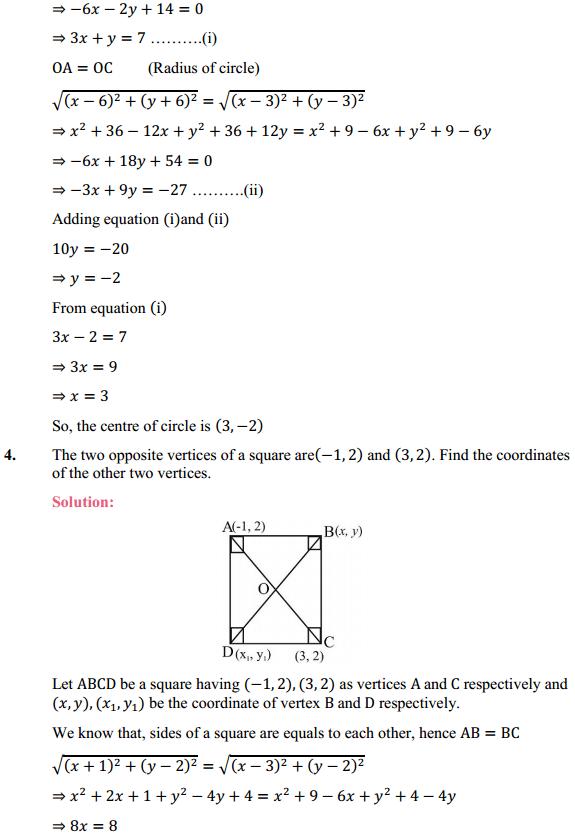 NCERT Solutions for Class 10 Maths Chapter 7 Coordinate Geometry Ex 7.4 3
