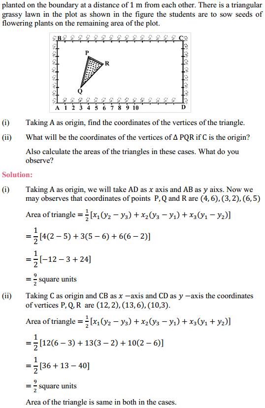 NCERT Solutions for Class 10 Maths Chapter 7 Coordinate Geometry Ex 7.4 5