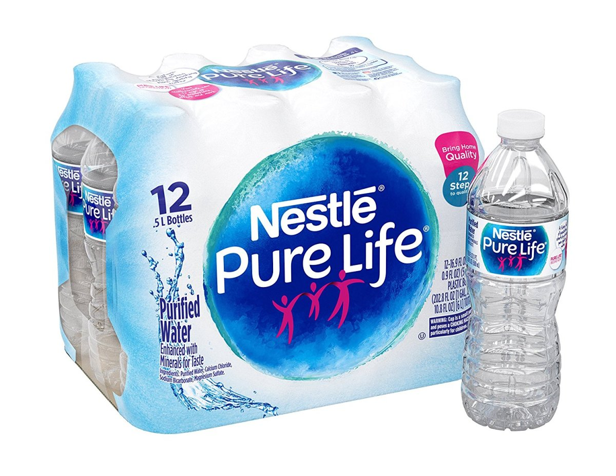 Nestle Pure Life Purified Bottled Water Contains Plastic Contaminants, Class Action Says