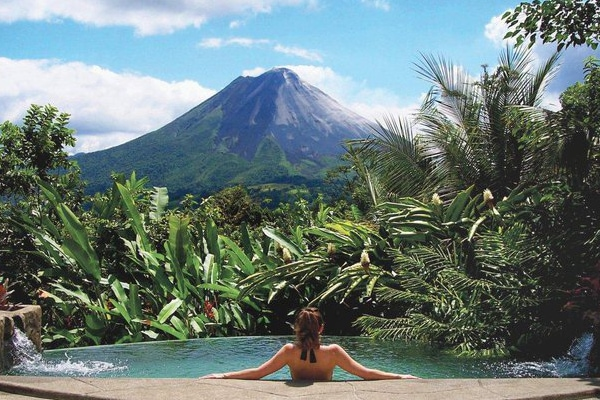 Arenal The Springs volcano views