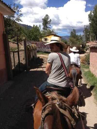Richard horseback riding Sacred Valley