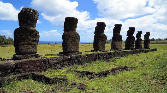 Moai at Ahu Akivi