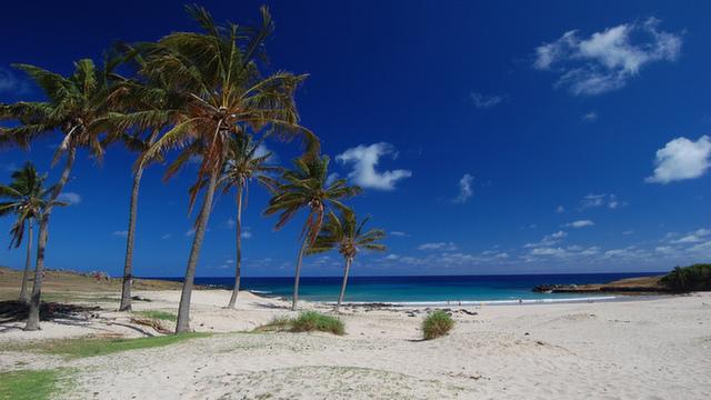 Easter Island's beautiful Anakena Beach