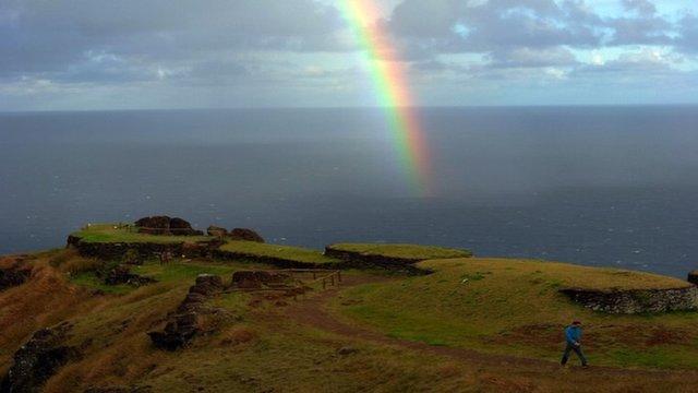 Hiking in Easter Island