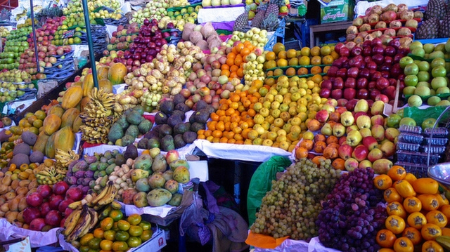 Fruit stall at San Camilo Market