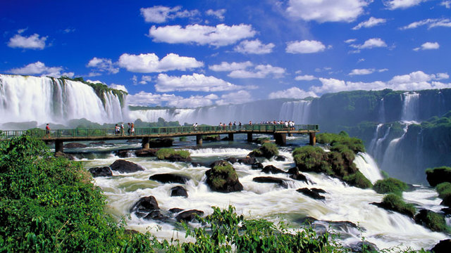 Walkways at Iguazu Falls