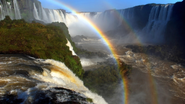 Double Rainbow at Iguazu Falls