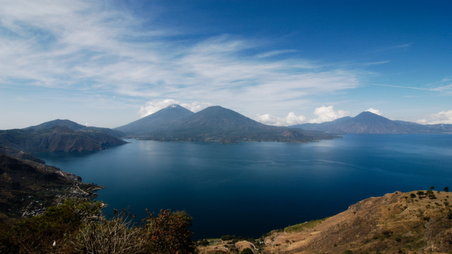 The beauty of Lake Atitlan