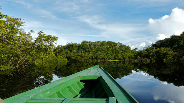 Boat ride in Peru's Amazon
