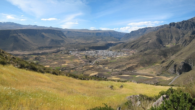 Chivay the gateway to the Colca Canyon