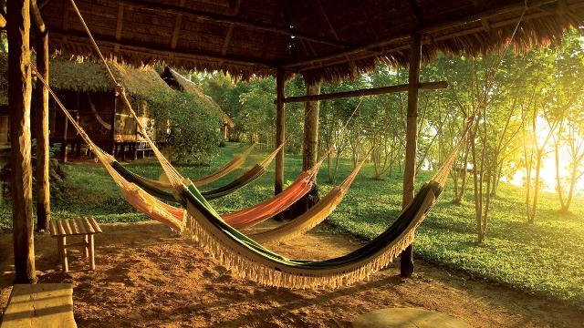 Relaxing in the Peruvian Amazon
