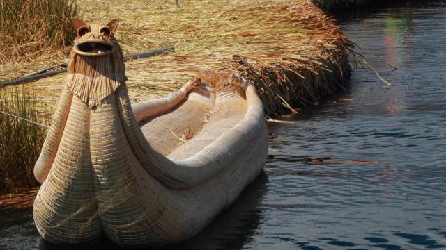 Totora Reed Boat at Lake Titicaca