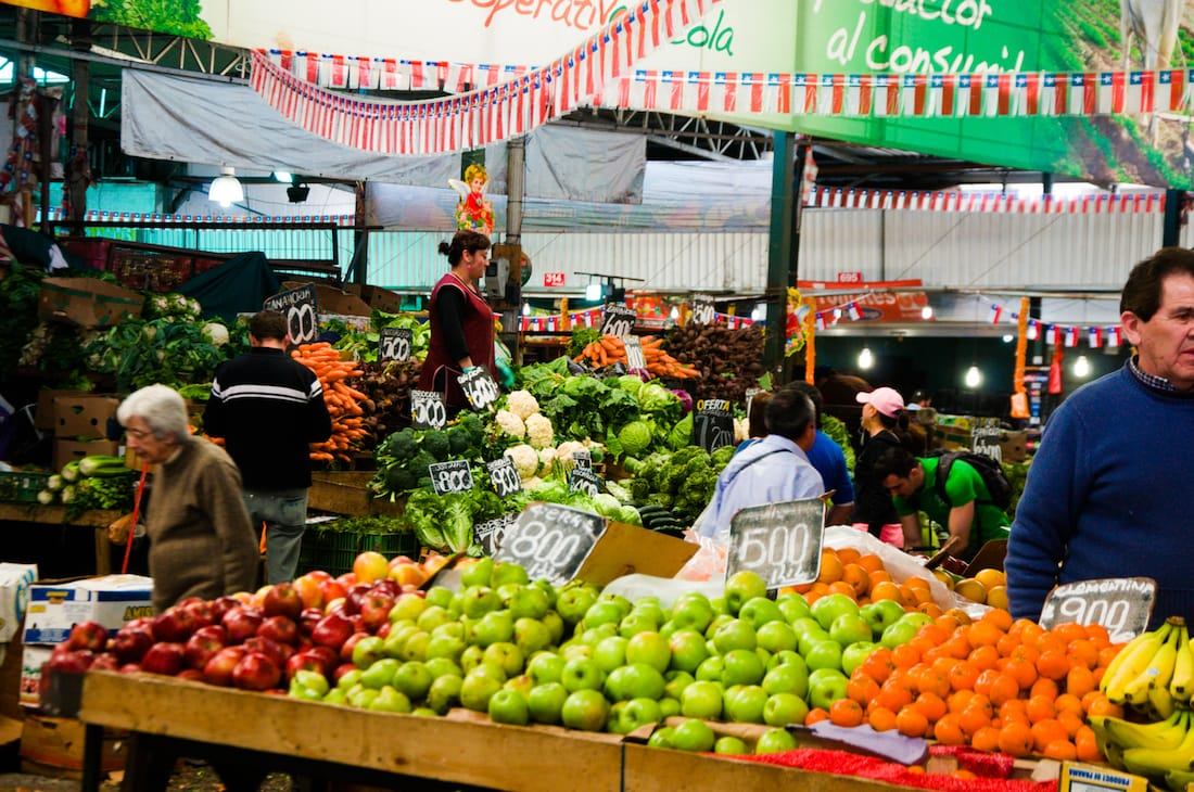 Central Market in Santiago, Chile