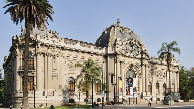 The National Museum of Fine Arts in Santiago de Chile