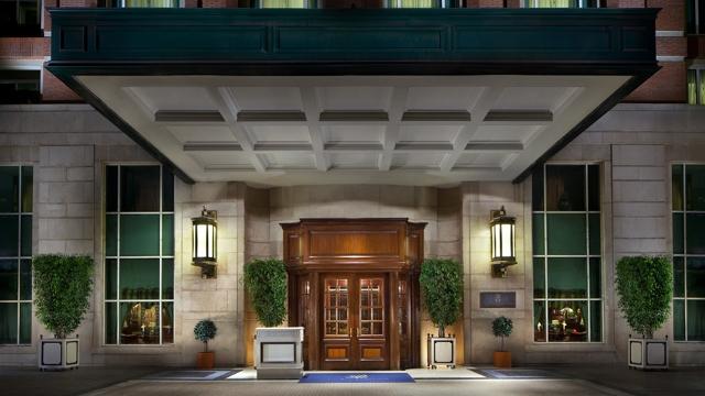 The Grand Entrance to the Ritz-Carlton Hotel, Santiago