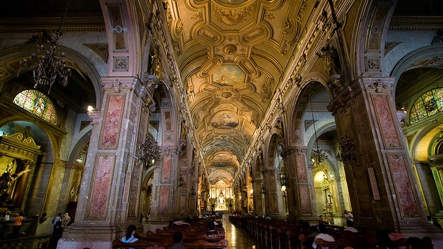 Inside Santiago de Chile's Cathedral