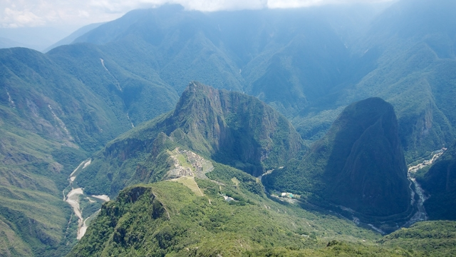 Spectacular view from Machu Picchu Mountain