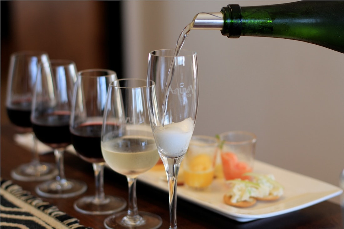 Wine, Champagne & delicious food at Anuva Wines