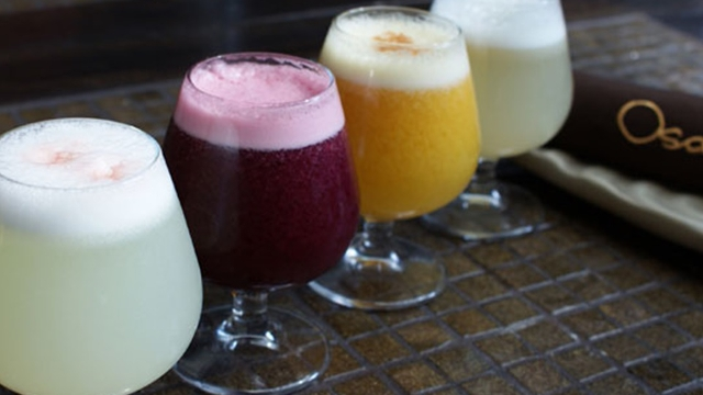 A range of Osaka's Pisco Sours