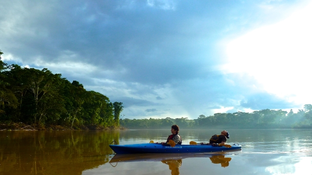 Kayaking in the Peruvian Amazon