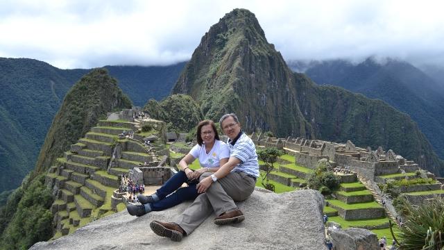 On top of Machu Picchu