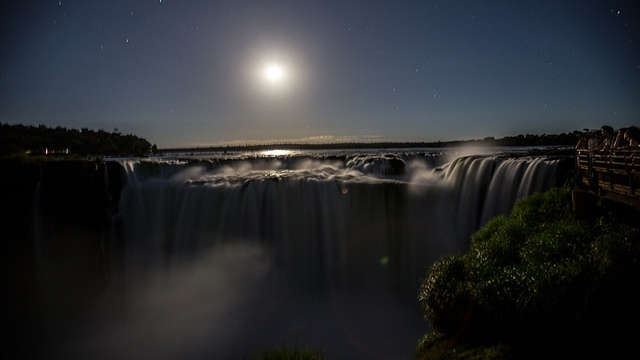 Iguazu Falls Moonlight