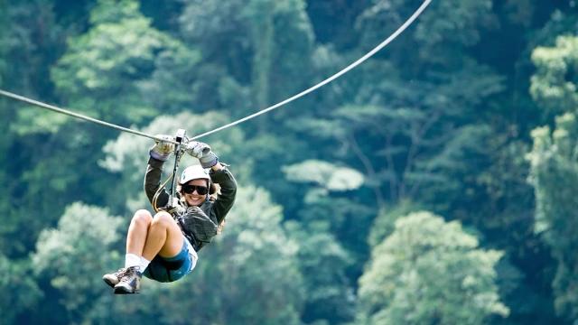 Ziplining in the Monteverde Cloud Forest